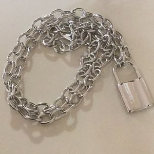 NWOT silver color padlock necklace